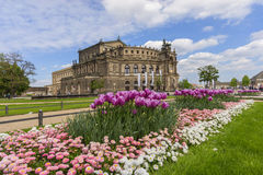Le théatre de l'opéra de Semper de Dresde Photo stock
