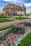 Le théatre de l'opéra de Semper de Dresde, Allemagne Photographie stock libre de droits