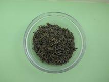 Le thé vert desserrent Photo stock