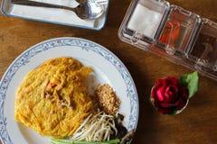 Le thailandais de protection d'omelette photos libres de droits