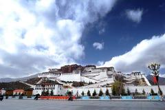 Le Thibet - le palais de Potala Photos libres de droits