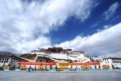 Le Thibet - le palais de Potala Photo libre de droits