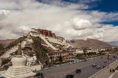 Le Thibet le Palais du Potala Photos libres de droits
