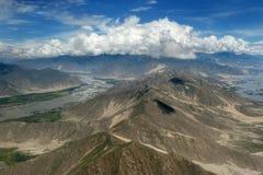 Le Thibet Lhasa : image aérienne Image libre de droits