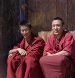 Le Thibet - moines bouddhistes Photos libres de droits