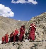 Le Thibet - moines bouddhistes - l'Himalaya Images libres de droits