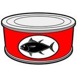 Le thon peut illustration de vecteur