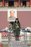 Le Tiananmen ou la porte de la paix merveilleuse, est un monument célèbre dans Pékin, la capitale de la Chine Photos libres de droits