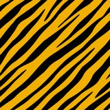 Le tigre est tombé (le papier peint de seamles) Image libre de droits