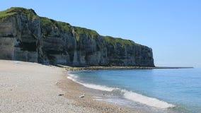 Le Tilleul Beach in Normandië, Frankrijk stock footage