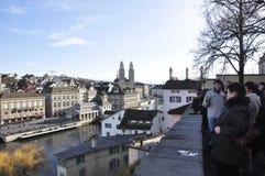 Le tilleul-Hof au coeur de la vieille ville du ¼ de ZÃ riche est ATT photos libres de droits