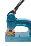 Le timbre de logo de relief par fer de style de vintage meurent d'isolement Photo libre de droits