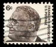 Le timbre a imprimé aux Etats-Unis, image de portrait Franklin Roosevelt photos libres de droits