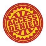 Le timbre ou le label abstrait avec le texte Access a nié l'insi écrit Image libre de droits