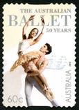 Le timbre-poste australien de ballet Photographie stock