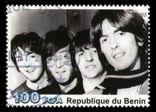 Le timbre-poste de Beatles du Bénin Photographie stock