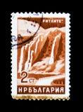 Le timbre-poste de la Bulgarie montre des montagnes de Ritlite, vers 1964 Images libres de droits