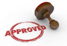 Le timbre rond rouge approuvé Word a accepté illustration libre de droits