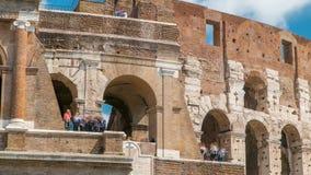 Le timelapse de Colosseum ou de Colisé, également connu sous le nom de Flavian Amphitheatre à Rome, l'Italie banque de vidéos