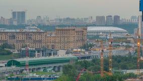 Le timelapse de Moscou, égalisant la vue du troisième anneau de transport et la partie centrale de ` s de Moscou sonne, trafique, clips vidéos