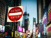 Le Times Square n'entrent pas Photos stock