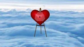 Le tir d'ange au coeur illustration stock