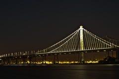 Le tir de soirée d'été de pont de baie d'Oakland Photo stock
