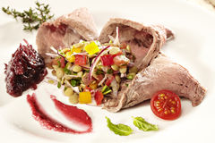 Rosebeef avec garnissent Photo stock