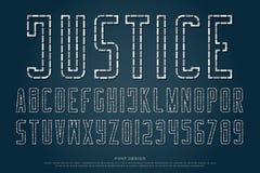 Le tiret et le tiret dénomment des lettres et des nombres d'alphabet Photo libre de droits