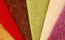 Le tissu échantillonne le fond Photographie stock