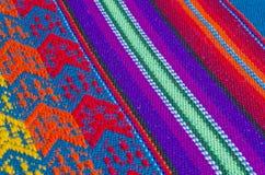 Le tissu coloré de Tableau de coton donne à #6 une consistance rugueuse Photos libres de droits