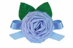 Le tissu de bleu de chéri s'est levé Photo libre de droits