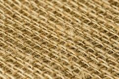Le tissu de jute pose la vue diagonale Image stock