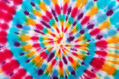 Le tissu de tache floue teignent en nouant photo libre de droits