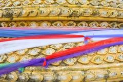 Le tissu de trois couleurs, ceci est culte de foi d'I pour chanceux Photographie stock libre de droits