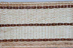 Le tissu en osier fabriqué à la main a tissé 2 Image stock