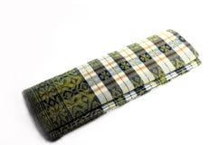 le tissu malaisien traditionnel a appelé le tenun de songket image stock