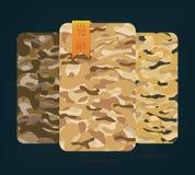 Le tissu sur le camouflage de militaires sur le fond Image stock