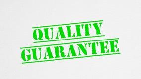 Le titre de garantie de qualité a imprimé avec le timbre d'encre illustration stock