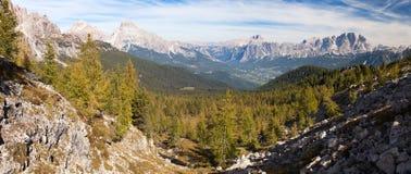 Le Tofane Gruppe e Hohe Gaisl, Dolomiti, Italia Immagine Stock Libera da Diritti