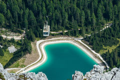 Le Tofane Lake, dolomías imagen de archivo
