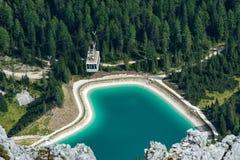 Le Tofane Lake, Dolomites Stock Image