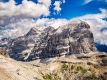 Le Tofane w dolomitach Włochy zdjęcia royalty free