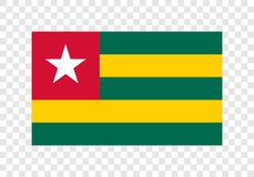 Le Togo - drapeau national illustration de vecteur