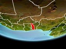 Le Togo en rouge le soir Images libres de droits
