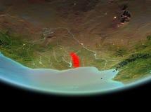 Le Togo la nuit sur terre Image libre de droits