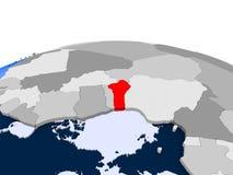 Le Togo sur le globe politique Images libres de droits