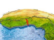 Le Togo sur le modèle de la terre Photographie stock libre de droits