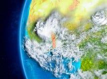 Le Togo sur terre de l'espace Images libres de droits