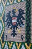 Le toit de la cathédrale de St Stephen à Vienne, Autriche Images libres de droits